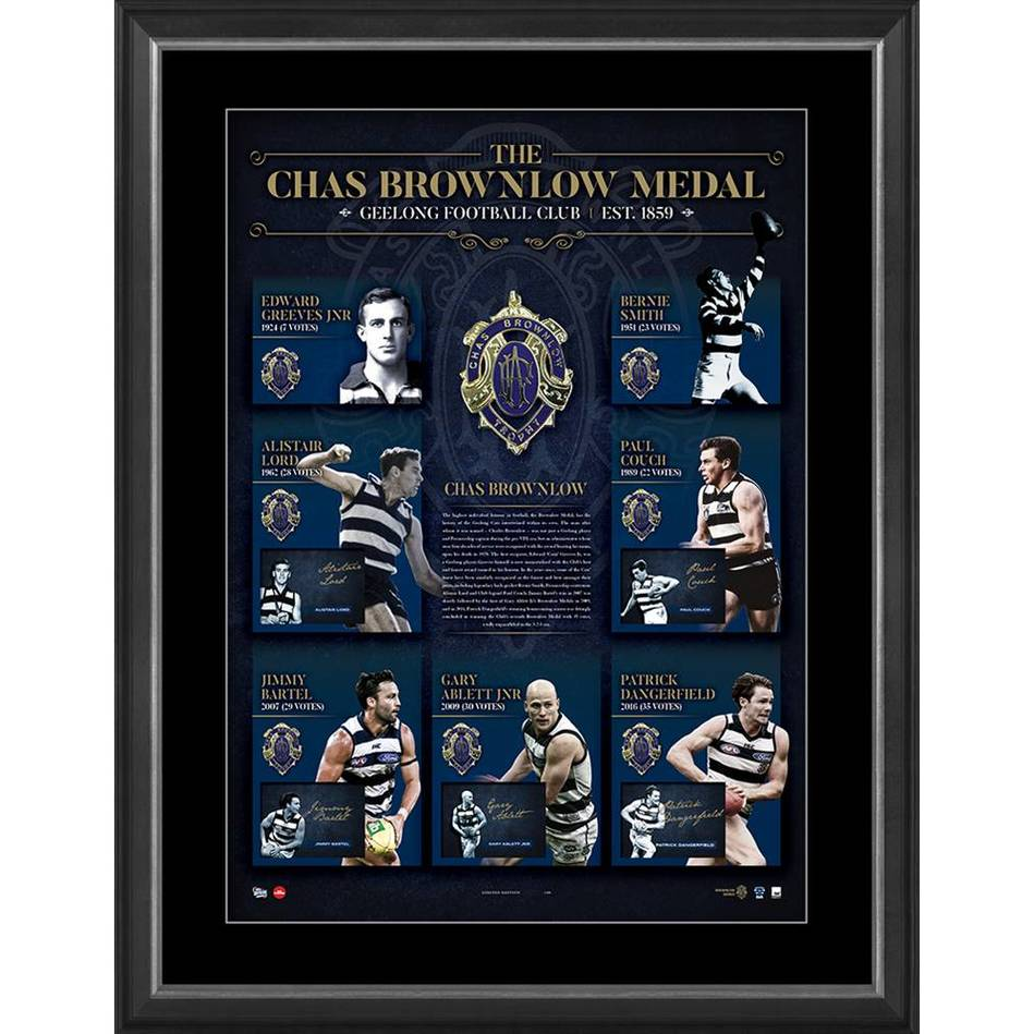 mainGEELONG CATS SIGNED 'HISTORY OF THE BROWNLOW'0