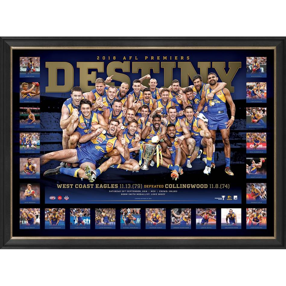 mainWest Coast Eagles 2018 AFL Premiers 'Destiny'0