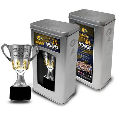 West Coast Eagles 2018 AFL Premiership Trophy in Collector's Tin