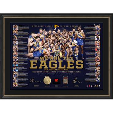 West Coast Eagles 2018 AFL Premiers Dual Signed 'We are the Eagles'