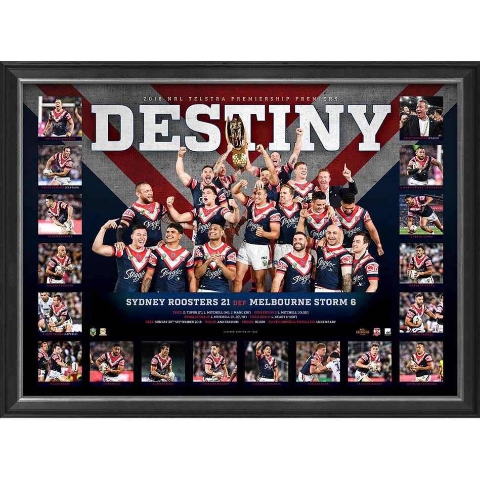 mainSydney Roosters 2018 NRL Premiers 'Destiny'0