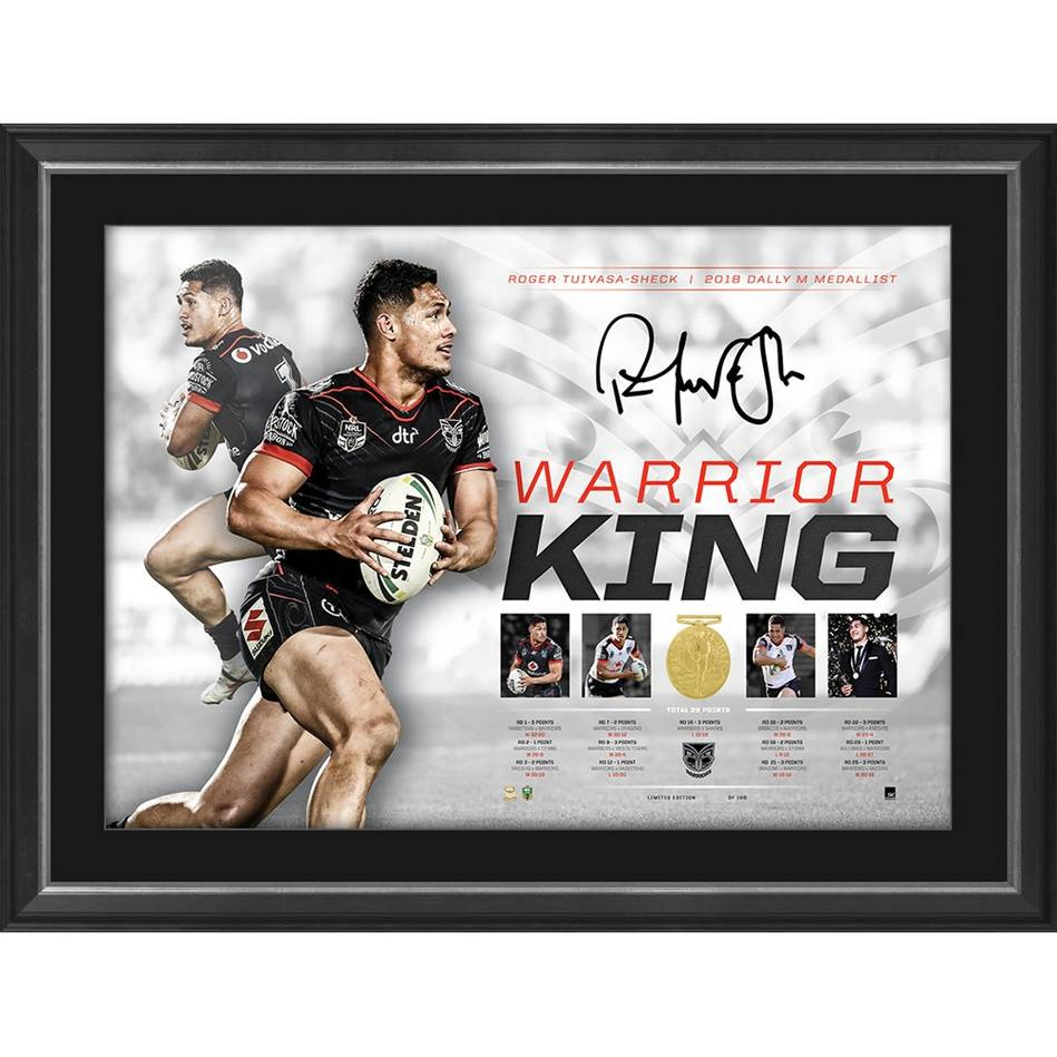 mainRoger Tuivasa-Sheck Signed 'Warrior King'0