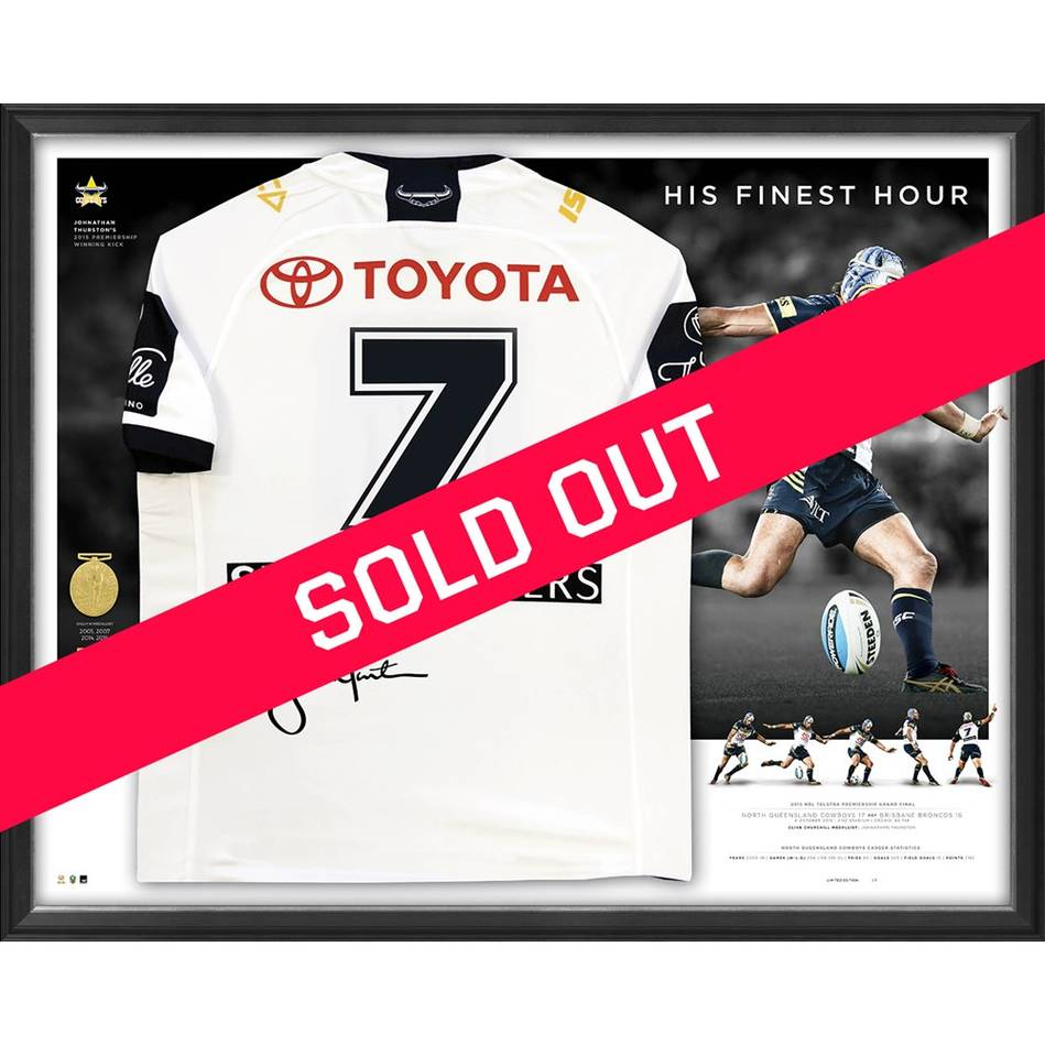 mainJohnathan Thurston Signed 'His Finest Hour' Deluxe Jersey0