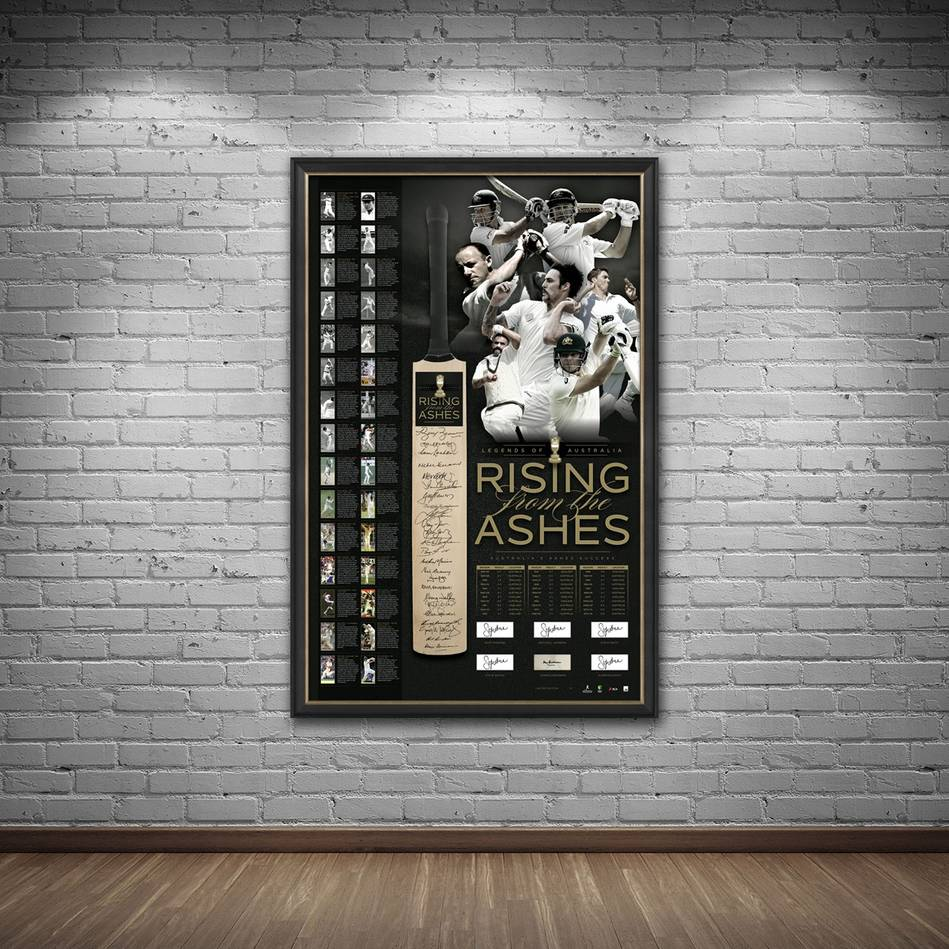 main'RISING FROM THE ASHES' SIGNED BAT DISPLAY1