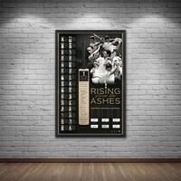 'RISING FROM THE ASHES' SIGNED BAT DISPLAY1