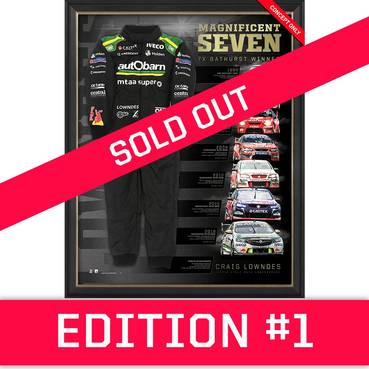 *Edition 1* Craig Lowndes Signed 'Magnificent Seven'
