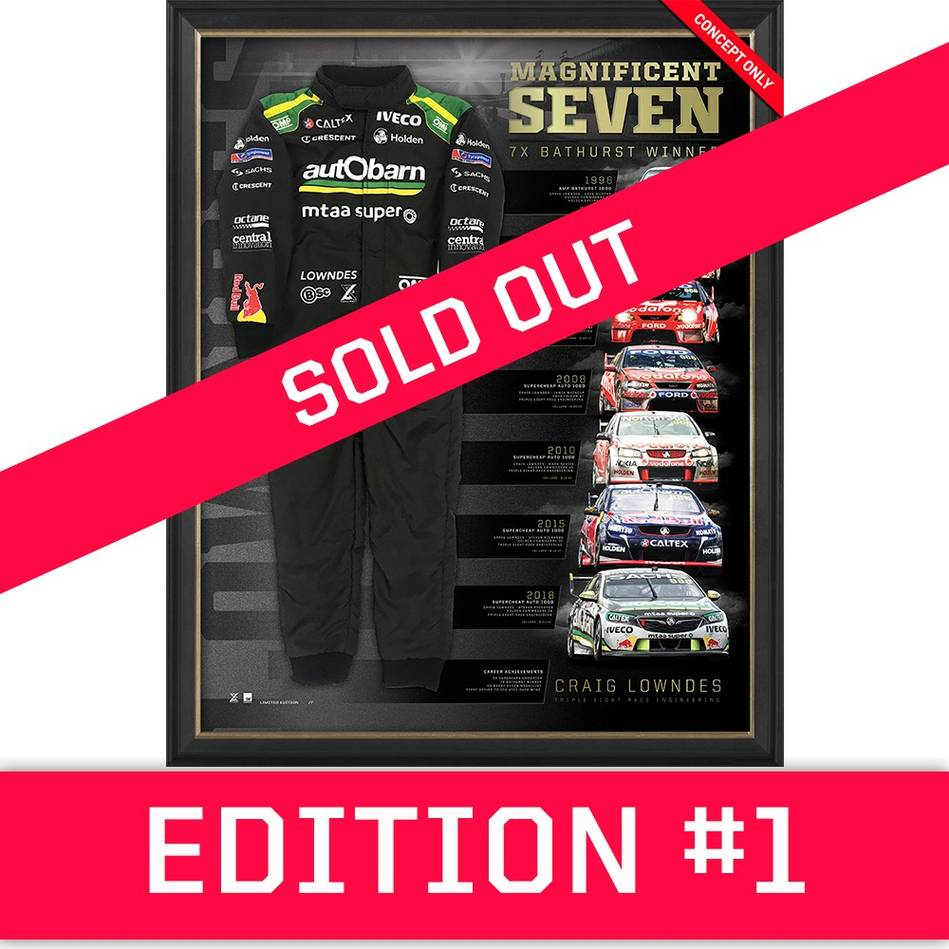 main*Edition 1* Craig Lowndes Signed 'Magnificent Seven'0