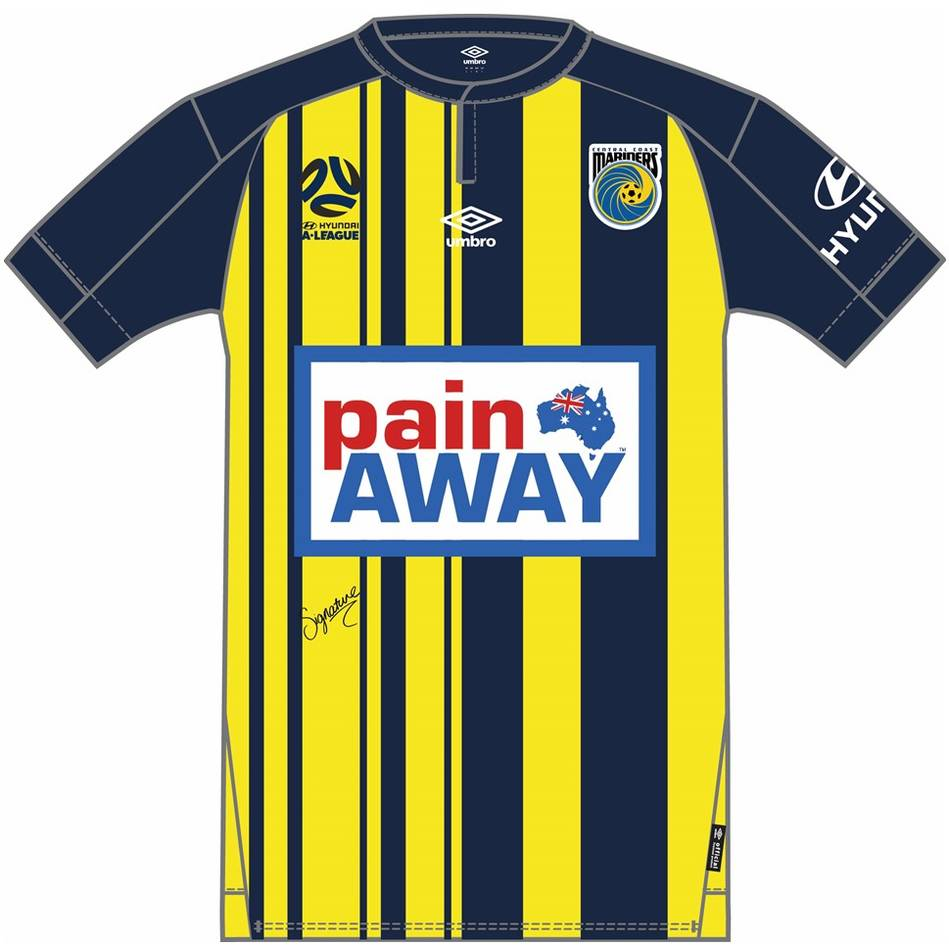 main#18 Matt Millar - Central Coast Mariners 2018 Signed Match-Worn Jersey0