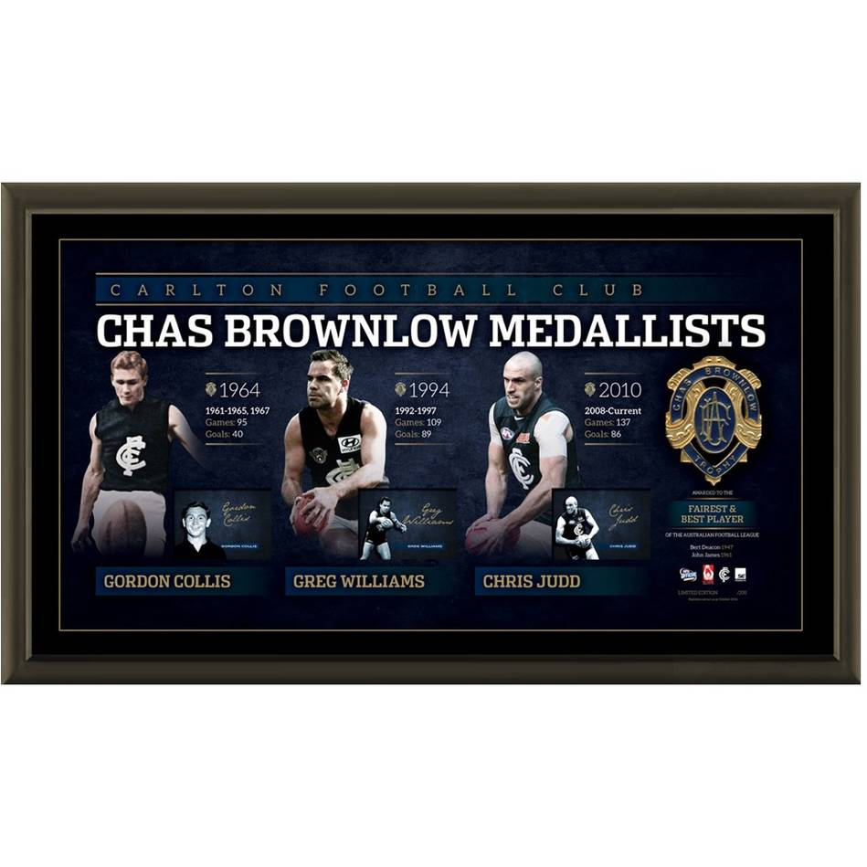 mainCARLTON SIGNED 'HISTORY OF THE BROWNLOW'0