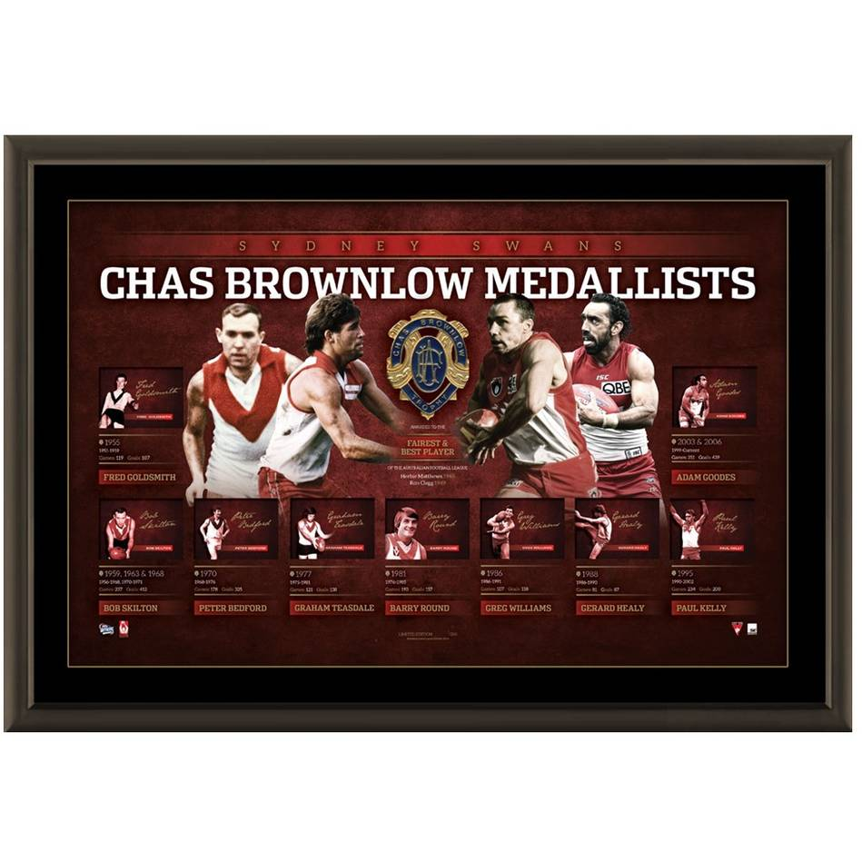 mainSYDNEY SWANS 'HISTORY OF THE BROWNLOW'0
