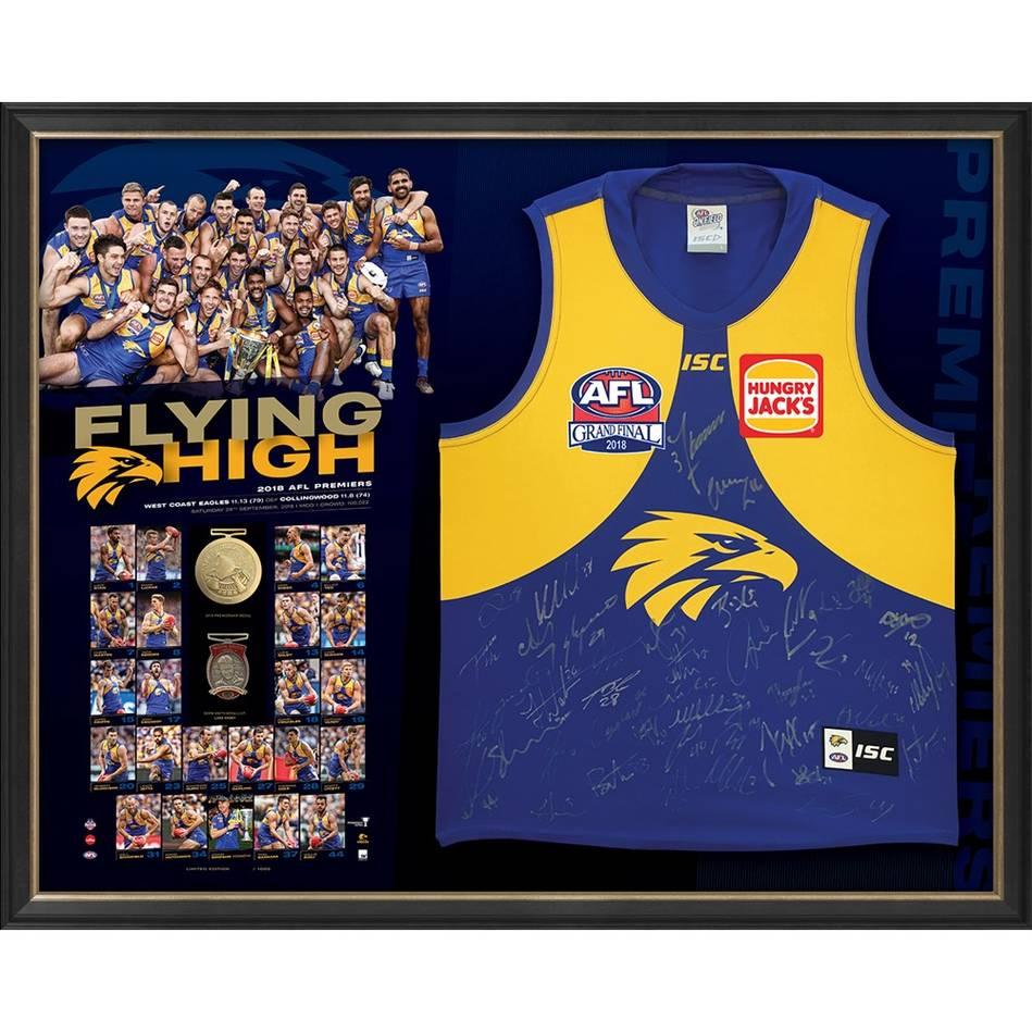 mainWest Coast Eagles 2018 AFL Premiers Team Signed 'Flying High'0