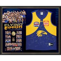 West Coast Eagles 2018 AFL Premiers Team Signed 'Flying High'0