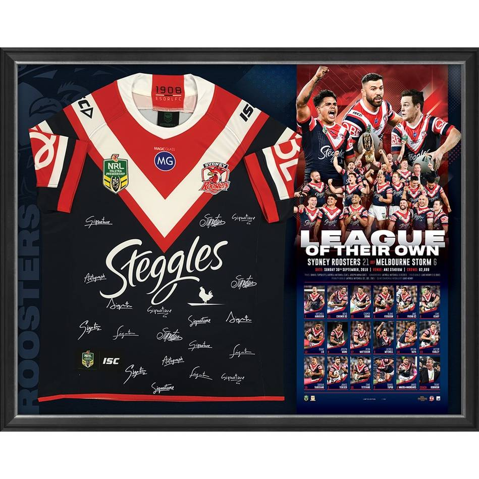 mainSydney Roosters 2018 NRL Premiers Team Signed 'League of Their Own'0