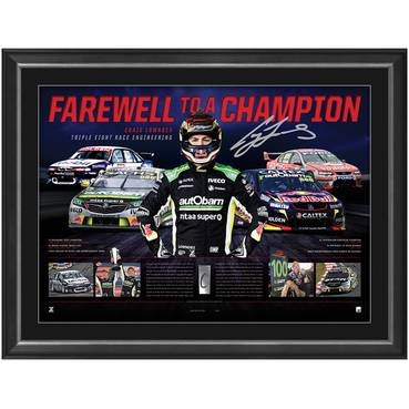 Craig Lowndes Signed 'Farewell to a Champion'