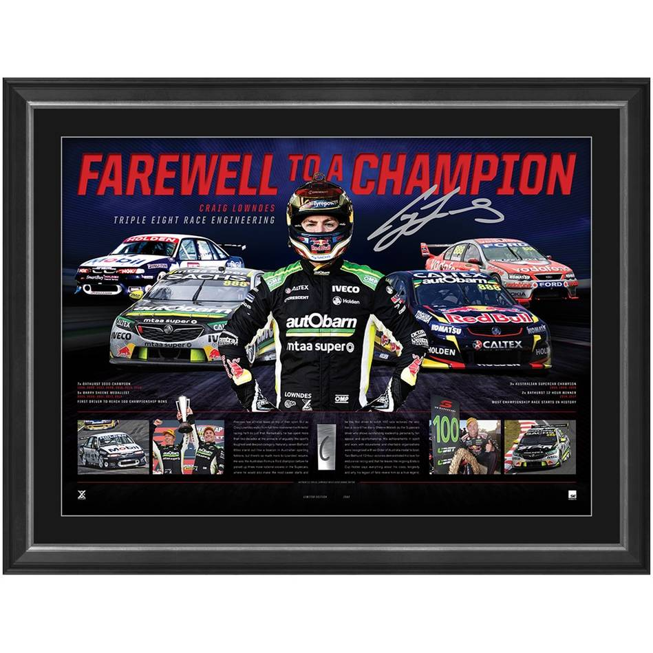 mainCraig Lowndes Signed 'Farewell to a Champion'0