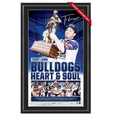 TERRY LAMB SIGNED 'BULLDOGS HEART & SOUL'