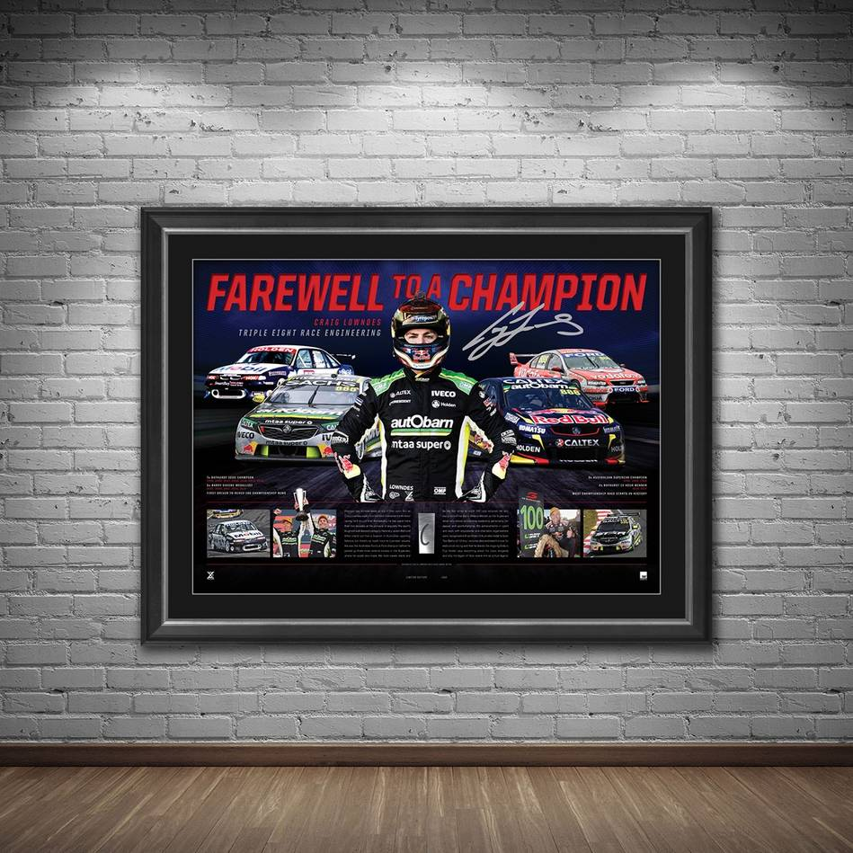mainCraig Lowndes Signed 'Farewell to a Champion'1