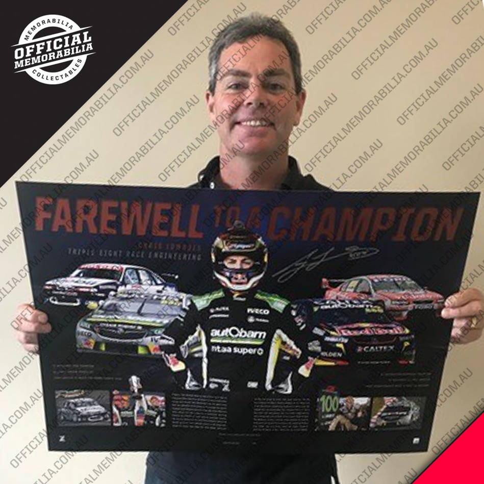 mainCraig Lowndes Signed 'Farewell to a Champion'2