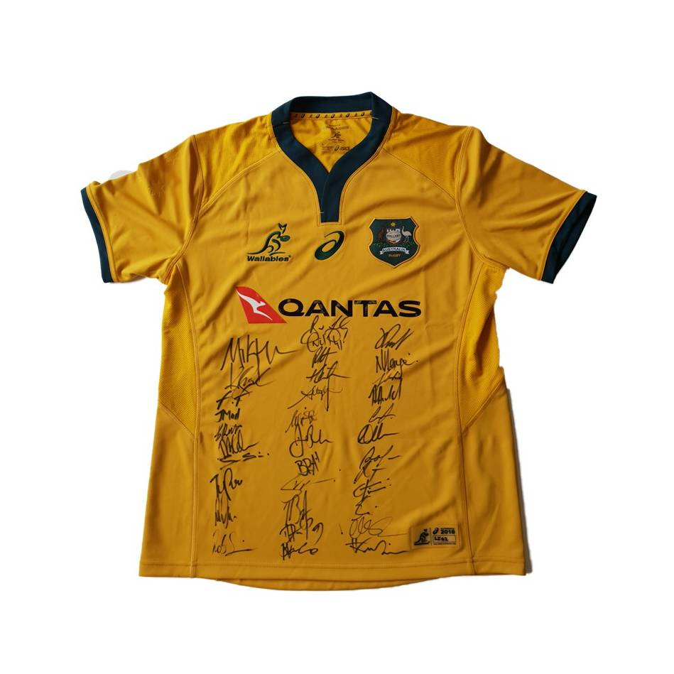 mainWallabies 2018 Team Signed Jersey0