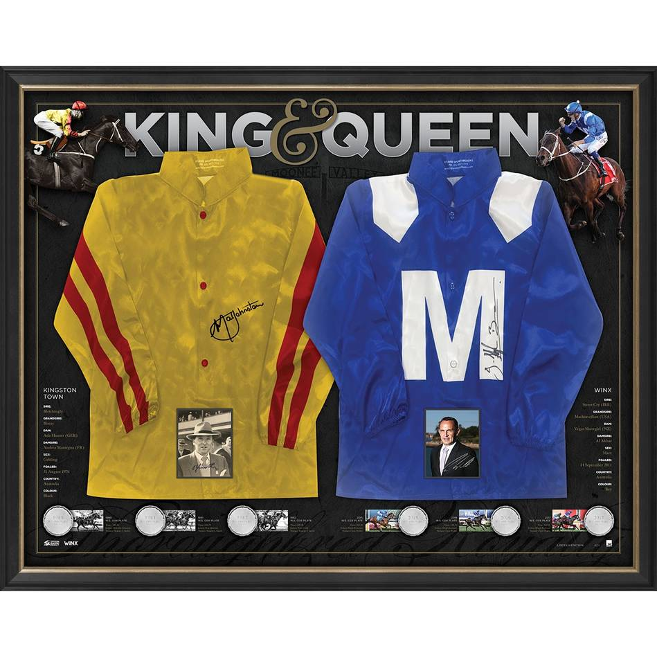 mainWinx & Kingston Town Dual Signed Triple Cox Plate Silks0