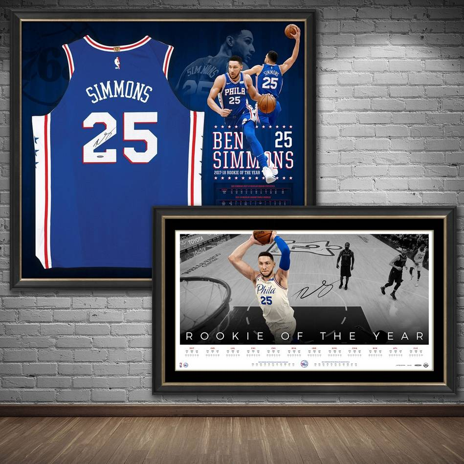 mainBen Simmons Signed 'Rookie of the Year' Jersey & Lithograph Bundle0