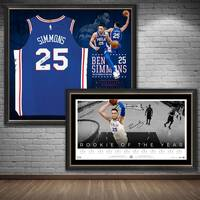 Ben Simmons Signed 'Rookie of the Year' Jersey & Lithograph Bundle0