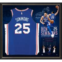 Ben Simmons Signed 'Rookie of the Year' Jersey & Lithograph Bundle1