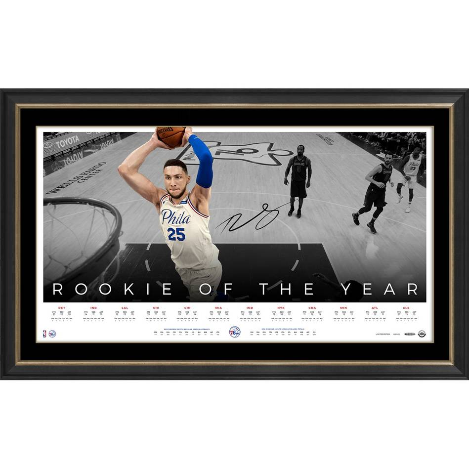mainBen Simmons Signed 'Rookie of the Year' Jersey & Lithograph Bundle2