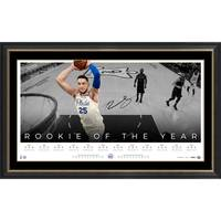 Ben Simmons Signed 'Rookie of the Year' Jersey & Lithograph Bundle2