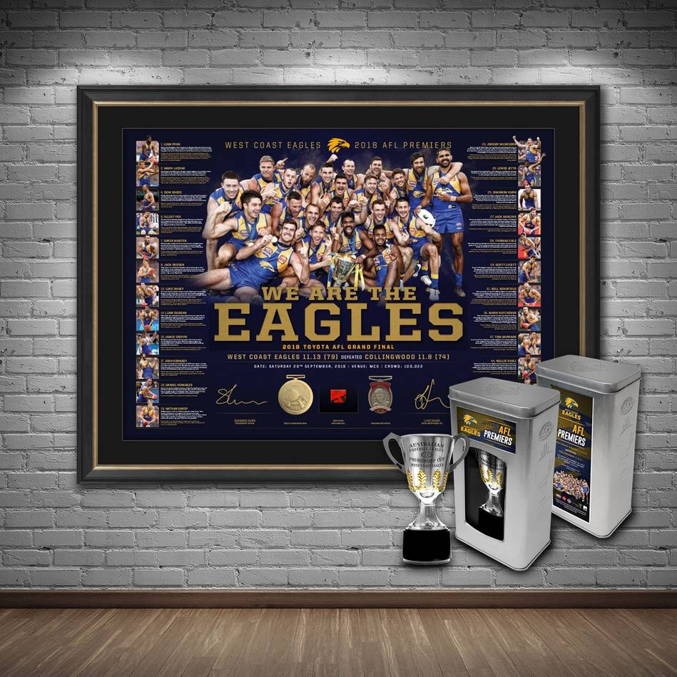 mainWest Coast Eagles 2018 Premiership Lithograph Bundle0