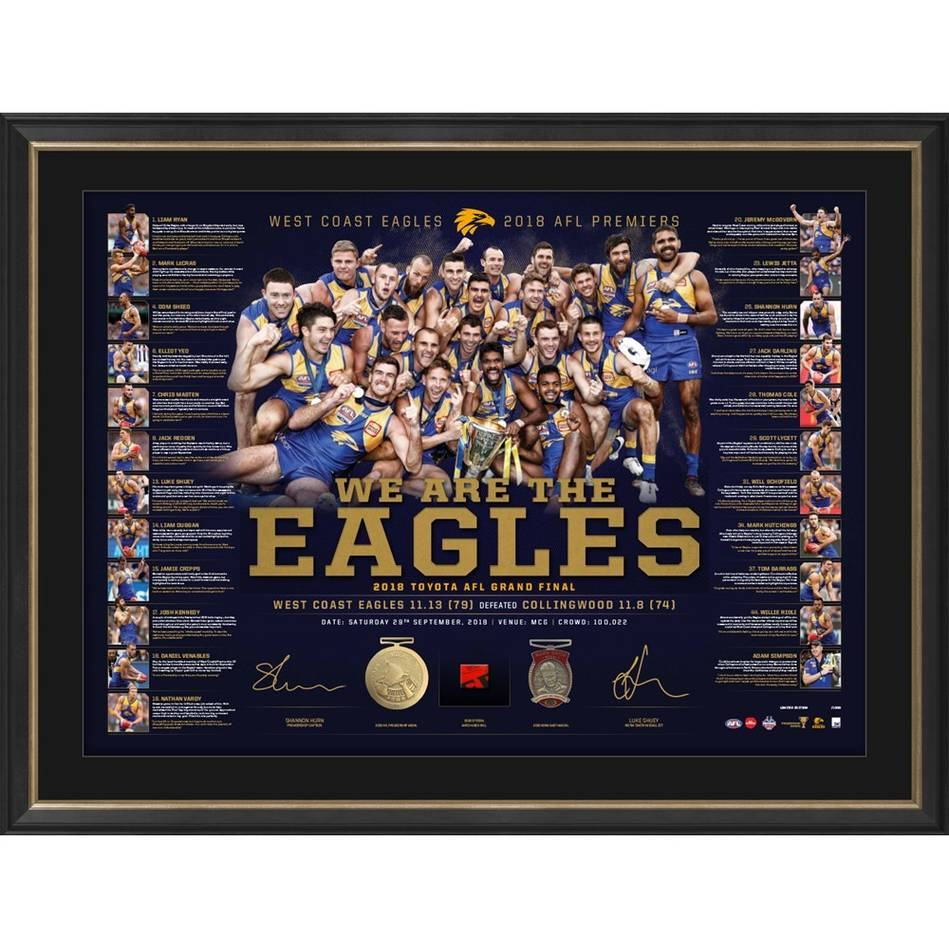 mainWest Coast Eagles 2018 Premiership Lithograph Bundle1