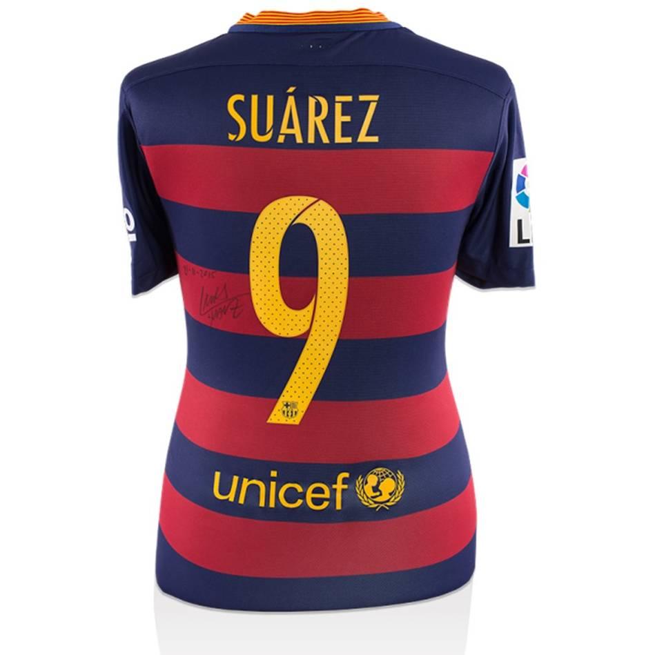 mainLuis Suarez Match-Worn Barcelona Jersey (2015-16 El Clasico)0