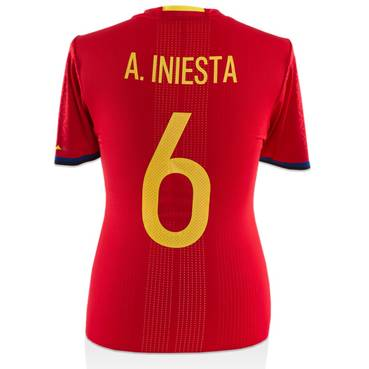 Andres Iniesta Match-Worn Spain Jersey (13 November, 2015)