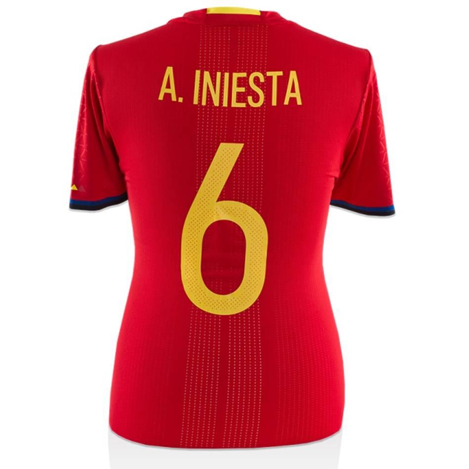 mainAndres Iniesta Match-Worn Spain Jersey (13 November, 2015)0