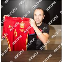 Andres Iniesta Match-Worn Spain Jersey (13 November, 2015)1