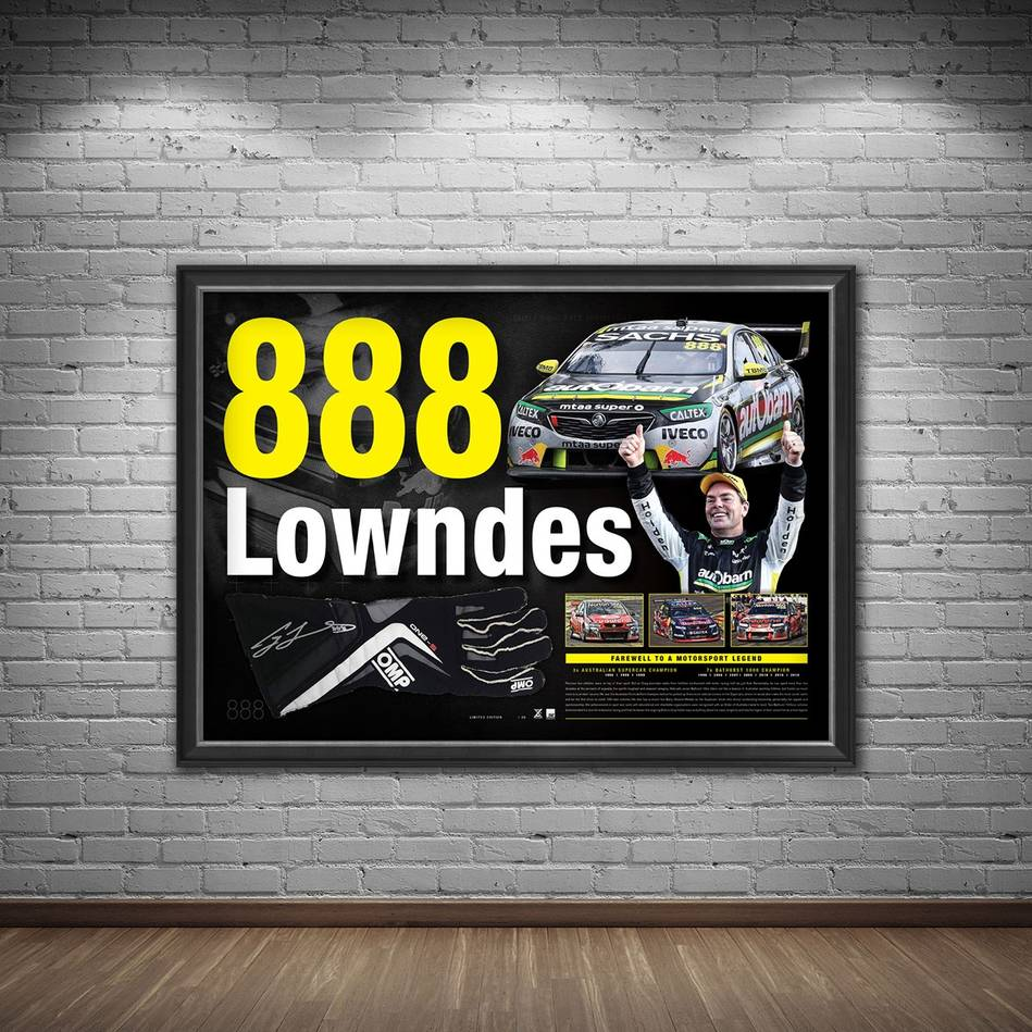 main*Edition 88* Craig Lowndes Signed '888 Lowndes'1