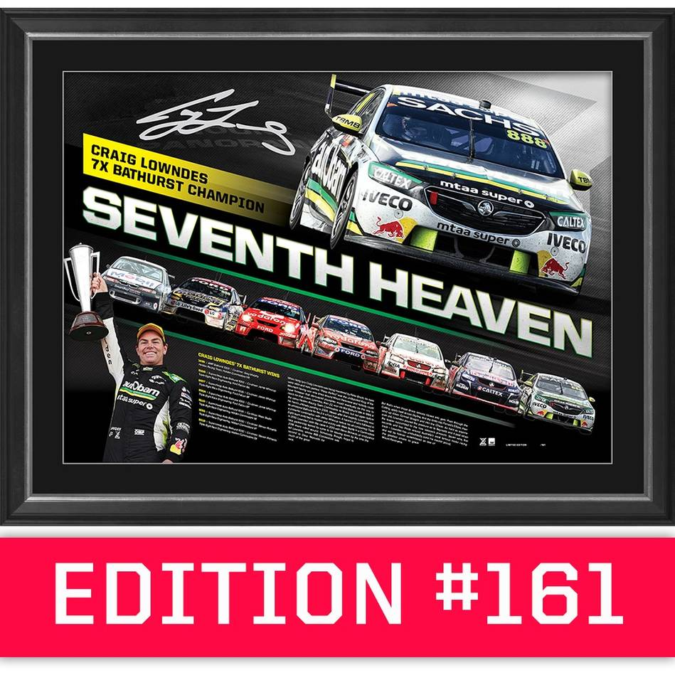 main*Edition 161* Craig Lowndes Signed 'Seventh Heaven'0