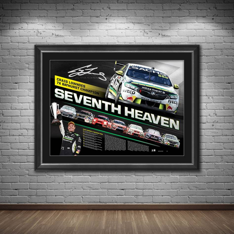 main*Edition 161* Craig Lowndes Signed 'Seventh Heaven'1
