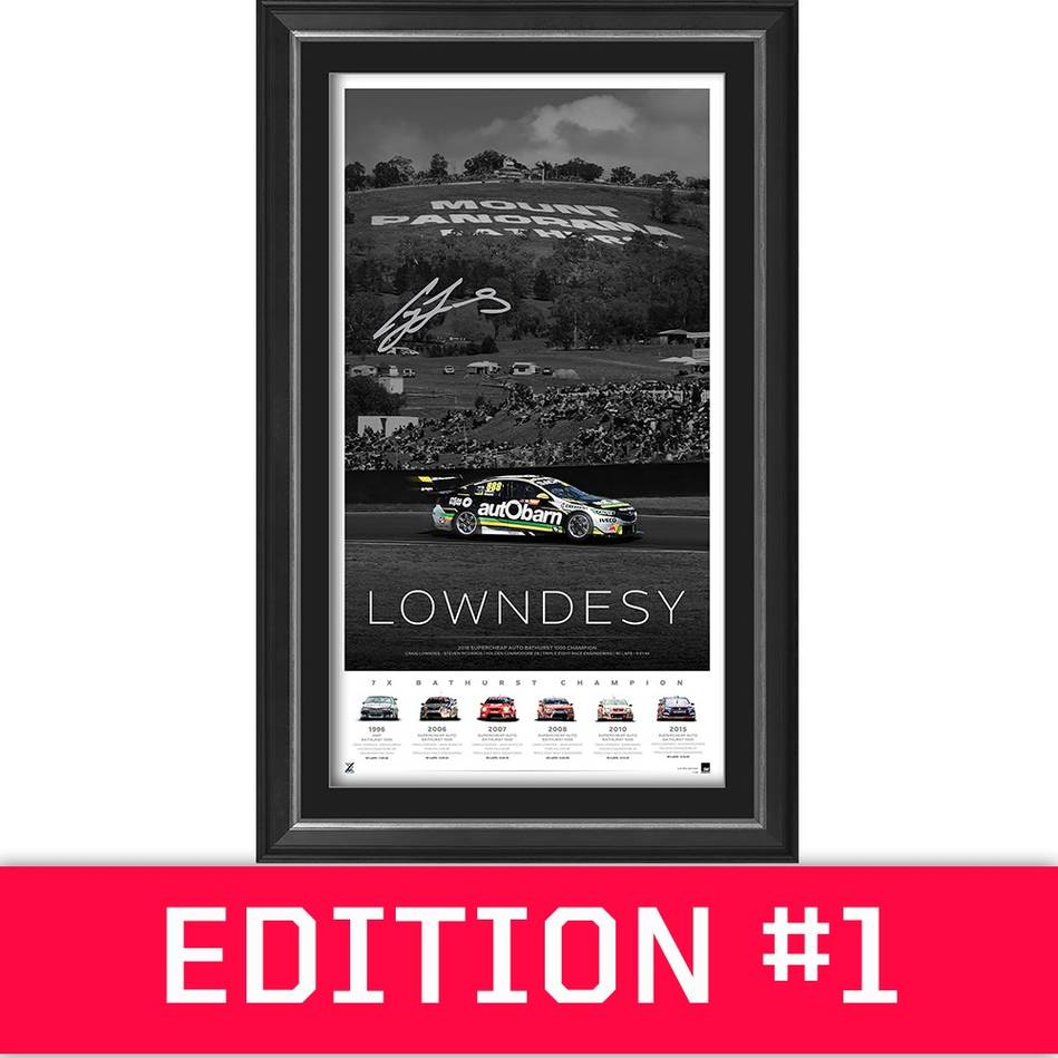 main*Edition 1* Craig Lowndes Signed 'Lowndesy'0