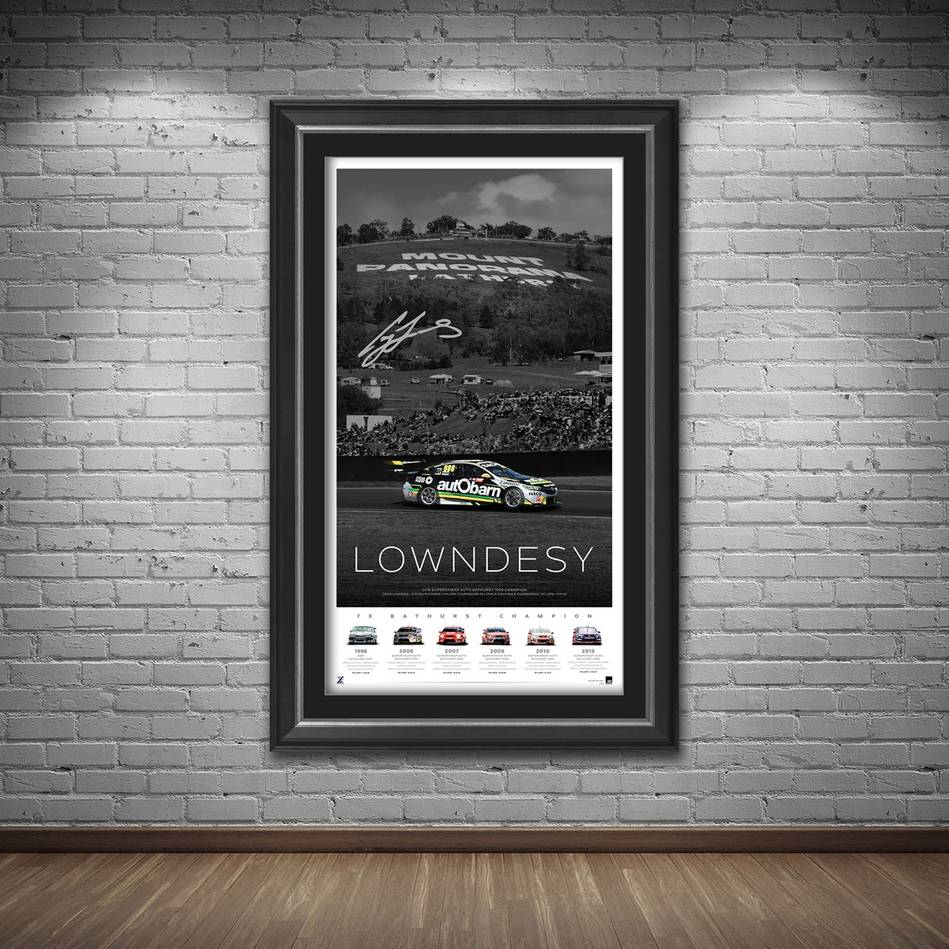 main*Edition 1* Craig Lowndes Signed 'Lowndesy'1