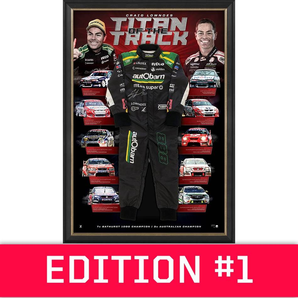 main*Edition 1* Craig Lowndes Signed 'Titan of the Track'0