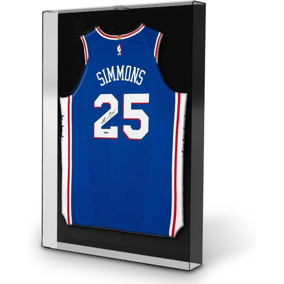 mainBen Simmons Signed & Inscription '1st Overall Pick '16' 76ers Away Jersey1