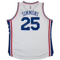 Ben Simmons Signed & Inscribed '1st Overall Pick '16' 76ers Home Jersey0