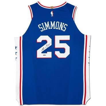Ben Simmons Signed 76ers Away Nike Jersey