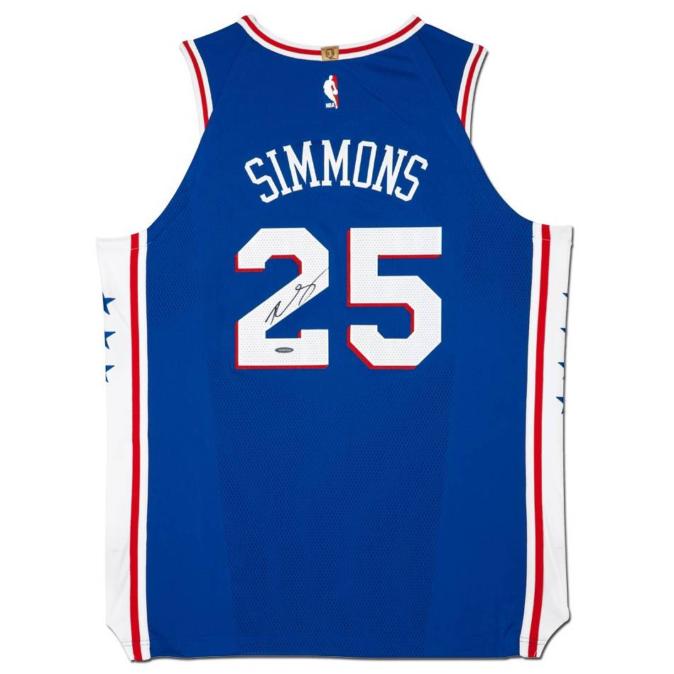 mainBen Simmons Signed 76ers Away Nike Jersey0