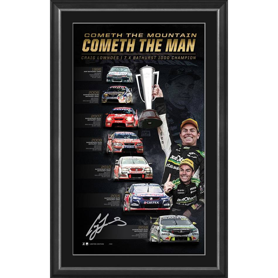 mainCraig Lowndes Signed 'Cometh the Mountain, Cometh the Man'0