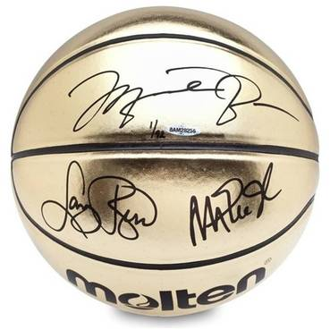 Michael Jordan, Magic Johnson, Larry Bird Signed Basketball