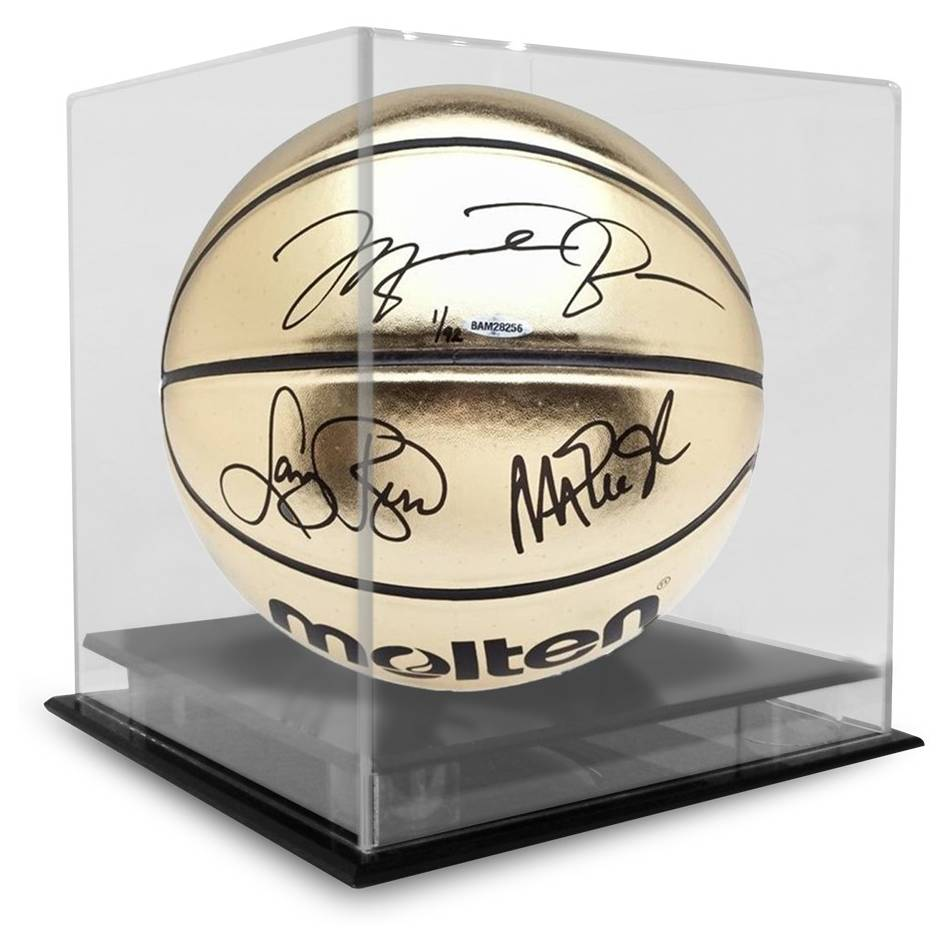 mainMichael Jordan, Magic Johnson, Larry Bird Signed Basketball1