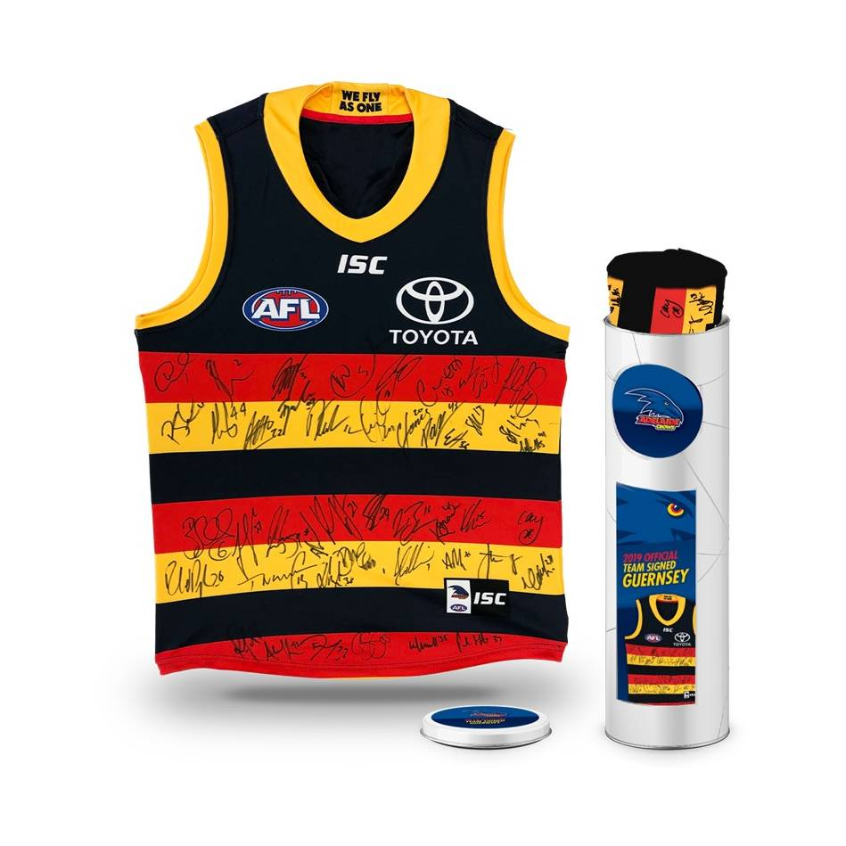 mainAdelaide Crows 2019 Team Signed Guernsey0