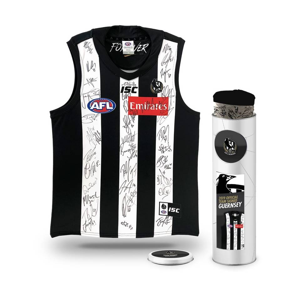 mainCollingwood Football Club 2019 Team Signed Guernsey0
